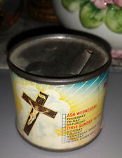 vintage Catholic / Christian lent donation can offerings piggy bank