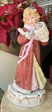 Large Heubach Victorian Christmas Girl With Cat German Bisque
