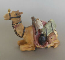 Kamel liegend 8,5 cm hoch für Krippenfiguren Größe  12 - 13 cm, Polystone bemalt