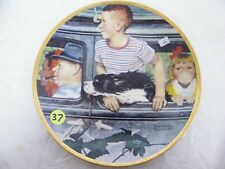 """The Outing-Porcelain Collector Plate 8.5"""" Norman Rockwell Sat Evening Post 1947"""