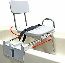 Eagle HealthCare 77762 Snap-n-Save Sliding Tub-Mount Transfer Bench-Swivel Seat