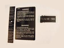 Saab 96 Underbonnet Sticker Set