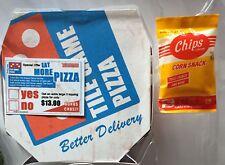 "PIZZA BOX + CORN CHIPS Neca Teenage Mutant Ninja Turtles ACCESSORY SET 5"" & 3"""
