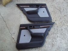 BMW E34 5-Series Rear Interior Door Panel Trim Skin Pair