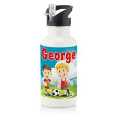 Personalised Football Soccer Boys Gift 600ml Kids Children's Water Drinks Bottle