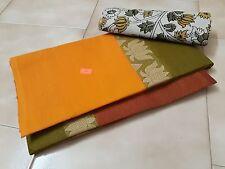 Chettinad cotton saree and kalamkari blouse material with free shipping.