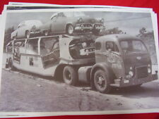 NEW 1952 STUDEBAKERS  ON 1950'S WHITE CAR CARRIER  BIG 11 X 17  PHOTO /  PICTURE