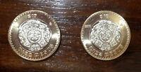 Coin of Mexico W/ Aztec Calendar = Piedra del Sol 10 pesos 2018 year, Lot of 2