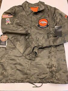 Nike Denver Broncos Salute to Service Camo Jacket Mens Size Medium AT7782-222