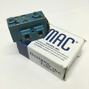 MAC 922B-RA Air Pilot Solenoid Valve, Double Operator, 5-Port 2-Pos, 10-150psi