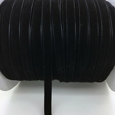 "New 5 yards 3/8 ""10mm Black Velvet Ribbon Headband Clips Bow Decoration"