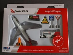 Qantas Airbus A330 Airport Playset Made By Daron - New & Sealed