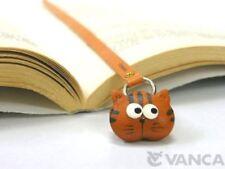 Cat Handmade 3D Leather Animal Bookmark/Bookmarker *VANCA* Made in Japan #26101