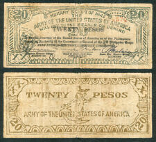 #S714 20 Pesos Philippine Free Negros US ARMY Military WW2 Banknote