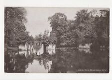 Old Roman Bridge Warwick Castle Vintage Postcard 162a