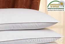 2 Pack European Pillow Duck Feather Pillow with Down Proof Cotton Cover
