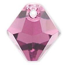 Swarovski Crystal TopDrill Bicone Amethyst Color. 6mm. Approx. 24 PCS. 6328-6301