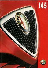 Alfa Romeo 145 1997-98 UK Market Brochure 1.6 1.8 Twin Spark 2.0 Cloverleaf