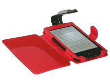RED CASE COVER AND LIGHT FOR KOBO TOUCH EREADER - WITH LED NIGHT READING LAMP
