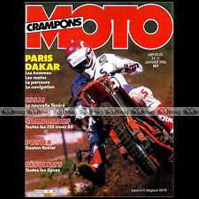 MOTO CRAMPONS N°11 TRI-Z YAMAHA 600 TENERE YZ 125 HONDA TLM 50 CR CAGIVA 1986