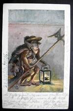 GERMANY MONKEY WITH LANTERN and SWORD -- STUTTGART 1900s