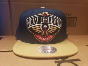 Mitchell & Ness New Orleans Pelican's 2 Tone Wool Solid Snapback Cap Hat