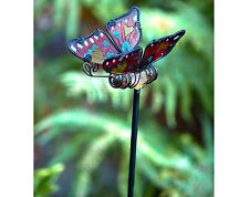 solar stake butterfly garden light led yard lights changing colour decorative