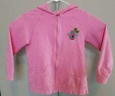 Quacker Factory Womens M Pink Full Zip Hooded Sweatshirt Jacket with Poodle