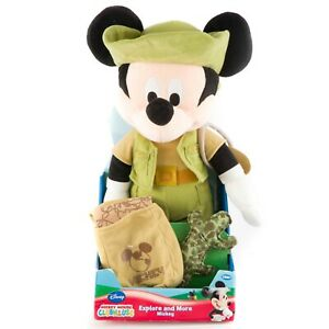 """Mickey Mouse Clubhouse Explore and More Plush 15"""" New Backpack Canteen Stuffed"""