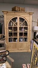 Reclaimed Pine Large Display Cabinet, Display Cupboard Display Cabinet bookcase
