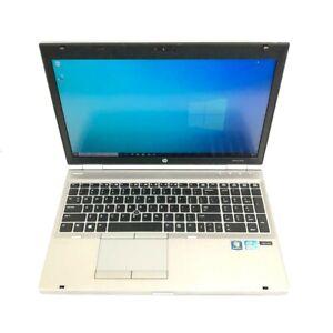 "HP EliteBook 8570p 15.6"" Core i5 3320M 2.6GHz 8GB RAM 256GB SSD Win 10 Pro"