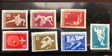 Hungary 1958 SC #1203-1209 European Championships TableTennis Swimming Mint NH