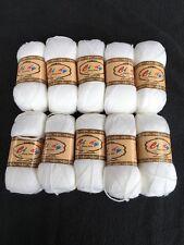10 X 50g Cindy Fancy Yarn Dk Sparkle Knitting Wool Yarn Colour White