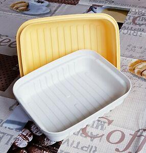 Tupperware A 48 Laibwächter klein Bäckermeister Brotkorb Brotkasten gelb beige