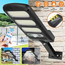 Waterproof Solar Powered LED Street Light Motion Sensor Remote Control Wall Lamp