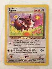 Eevee - No. 51/64 Jungle Set Wizards WotC Card , Miscut Error Vtg - Pokemon 1999
