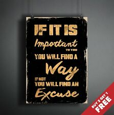 YOU WILL FIND A WAY Poster A3/A4 * Inspirational Motivational Quote Wall Art
