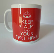 Personalised Keep Calm I'm A Your Text Here Gift Mug Cup In Carry On Style