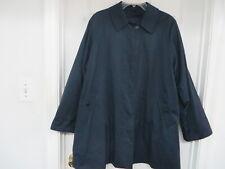 BURBERRYS' of London Cotton/polyester Swing Coat Jacket Navy w.wool  vest 8 P