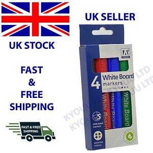 Assorted Whiteboard Marker Dry Wipe Pens Bullet Tip Erase Wipe Clean Board Glass