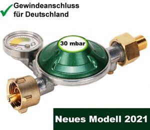Gas-Regler Druckminderer 30 mbar Druckregler Camping Manometer Butan Gas-Grill