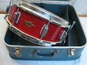 Vintage Trixon Snare Drum Red Sparkle w/Case Instrument