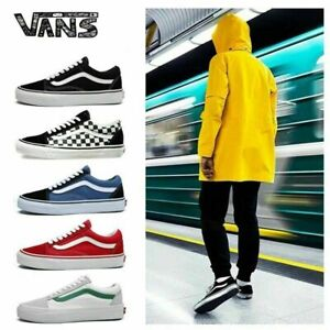 VAN Old Skool Skate Shoes All Size Classic Canvas Sport Running Sneakers UK3-10