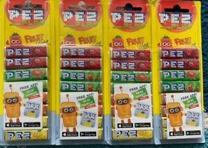 8 PACK PEZ REFILLS 1X8 PACKS FRUIT FLAVOUR SWEETS PEZ DISPENSER FREE P&P VEGAN