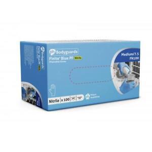 Polyco Disposable Gloves Blue Nitrile Size M (Box-100) UK DISPATCH  ✅ 🚚