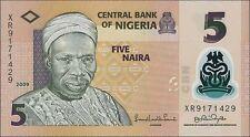 Nigeria 5 Naira 2009 Polymer Pick 38a