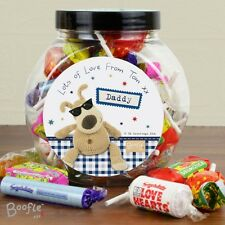Personalised Boofle Sweet Filled Jar Gift For Him, Birthday, Dad, Brother, Son