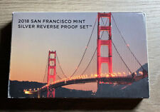 2018-San Francisco Mint Silver Reverse Proof Set w/coa/box