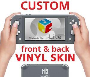 Nintendo Switch Lite Custom Front & Back Vinyl Sticker Skin Pokemon Metroid Game