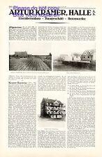 Baugeschäft Kramer Halle / Saale XL Reklame 1925 Betonbau Werbung +